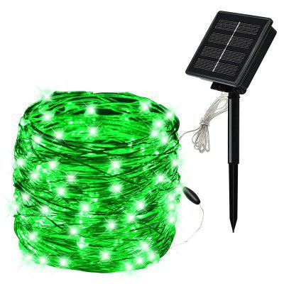100LED Solar Copper Wire Light Silver Wire String Outdoor Waterproof Christmas Day Copper Wire Light