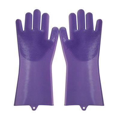 1Pair Kitchen Gloves Silicone Household Cleaning Gloves Dish Washing Glove for Kitchen Cleaning Tool