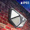 Outdoor 100LED 4 Side Solar Waterproof Garden Light Super Bright Wide Angle Lighting