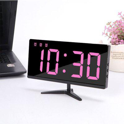 USB Rechargeable Mirror Clock Frameless Multifunctional Electronic Clock TV Alarm Clock