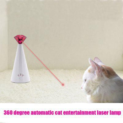 Funny Cat Laser Toy Automatic Rotating Irregular Movement 3 Speed Bright Exercise Infrared Toy