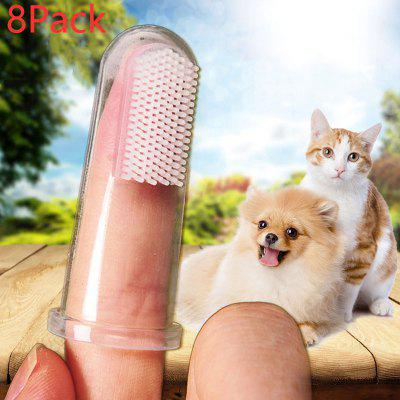 Pet Finger Toothbrush Super Soft Cat And Dog Bad Breath Tartar Tooth Cleaning Supplies