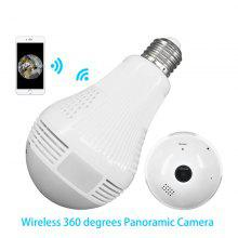 Panoramic 360 Degree Bulb Lighting Camera Wireless Wifi Monitor HD Home Camera