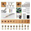 44pcs wood Burning Pyrography Pen Kit Adjustable Temperature Soldering iron with Line On-Off