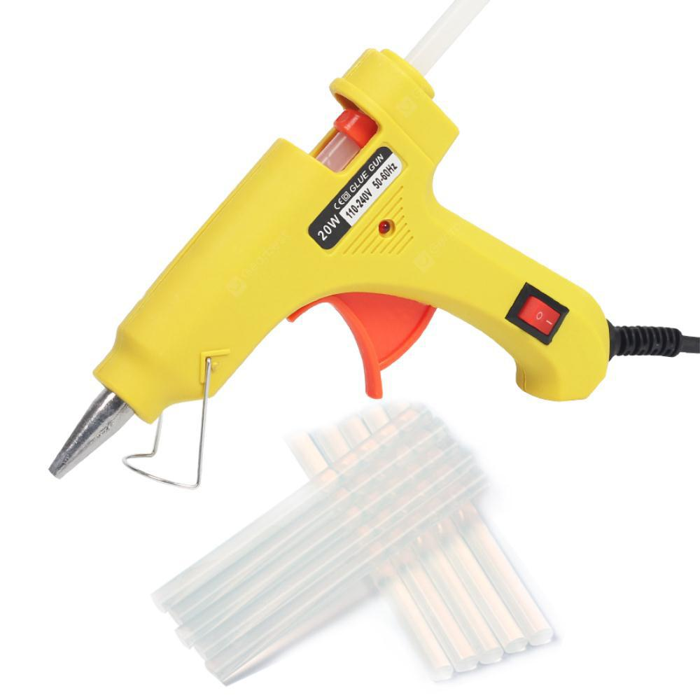 20W 110V-240V Melt Glue Gun Plastic Heating Up Electric Craft Repair Tools For 7mm Glue Sticks