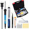 Soldering Iron Kit 60W 110V 120V-Adjustable Temperature Welding Solder tools with Portable toolbox