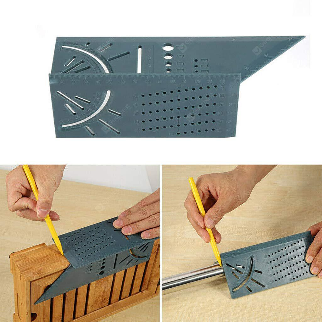 Home Measuring Ruler Measure Tool Woodworking 3D Mitre Angle Measuring Square Size Measure Tool