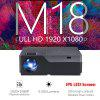 AUN M18 Full HD Projector 1920x1080 Resolution LED Beamer Support AC3 5500 Lumens Optional Android