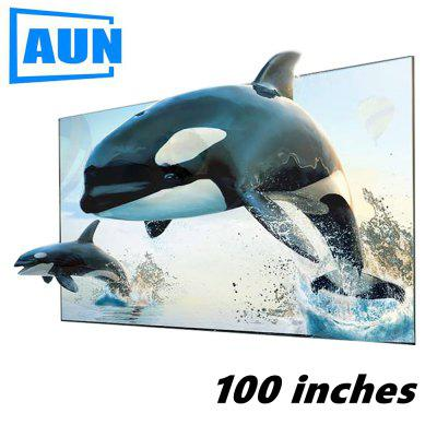 AUN 100 inches ALR Screen Anti light Reflective Fabric Screen for Home theater for LED DLP proyector