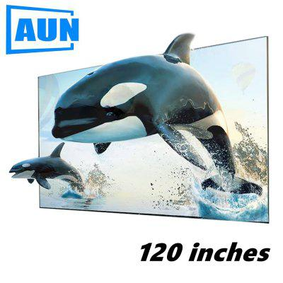 AUN 120 inches ALR Screen Anti-light Reflective Fabric for Home theater LED DLP proyector