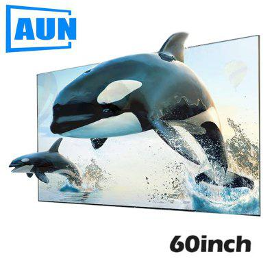 AUN ALR Screen Anti light Reflective Fabric 60 inch Screen for Home theater for LED DLP proyector