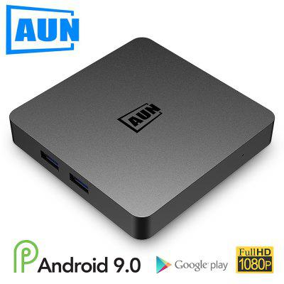 AUN Android 9.0 TV scatola 2GB RAM 16G ROM 4K Decodifica Ultra HD WIFI HDMI2.0 Set top player per lettore Google