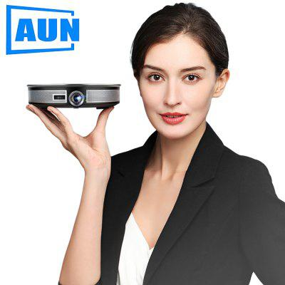 AUN MINI Projector D8S Android 6.0  12000mAH Battery Portable 3D beamer Support 4K for home cinema