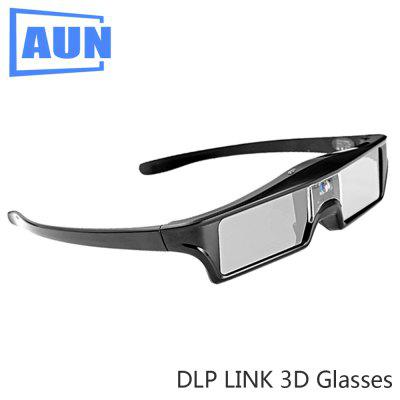 AUN LCD Active 3D Glasses Shutter Glasses Use for All DLP Projector Built-in Battery LINK DL01