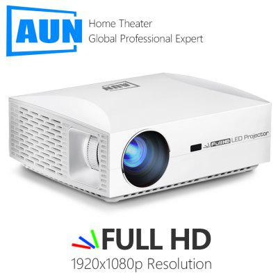 AUN LCD Projector F30 Full HD Projector for Home Cinema 1920x1080P Resolution 6500 Lumens Optional Andriod
