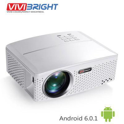 VIVIBRIGHT GP80UP LED Projector Optional Android  6.0.1 WiFi Bluetooth for TV LED Home Theater