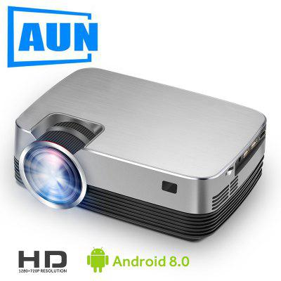 AUN New MINI Q6-AD Projector 1280x720P Android 8.0 LED Proyector For 1080P Home Cinema