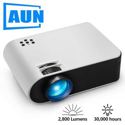 AUN MINI Projector W18C Wireless Sync Display For Phone Portable Home Cinema for Full HD 1080P