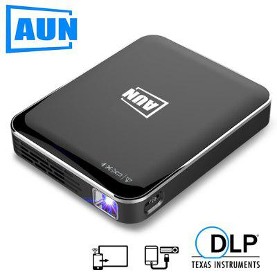 AUN MINI Projector X3 Built in Multimedia System Support Mobile Phone Screen Mirroring DLP Projector