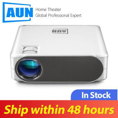 AUN Full HD1080P AKEY6 Projector Optional  Android 6.0 Version WIFI Beamer LED Projector for 4K 3D Home Cinema