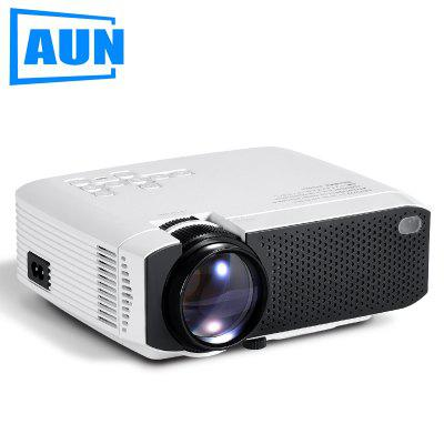 AUN 2020 New D50 Mini Projector Portable Home Cinema for 1080P LED Projector 2500 Lumens