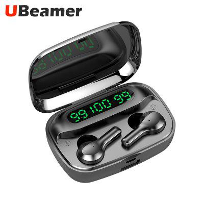 Ubeamer Bluetooth 5.0 Touch Control Headset TWS True Wireless Dual Earbuds Bass Sound Sport Waterproof 2000mAh Headphone With Microphone