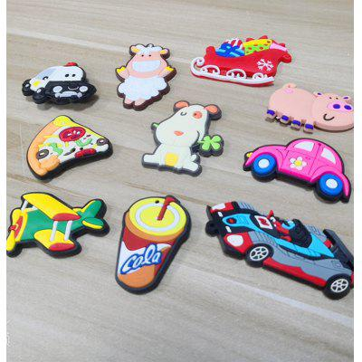 10 pieces PVC Refrigerator Magnets Animal Car Food Kids Early Education Home Decoration