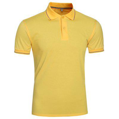 Mens Casual Solid Color PoloShirt Men Turn Down Collar T-Shirt Men 7322