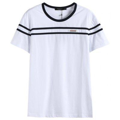 Summer O Neck Cotton T-shirt Men Slim Fit Casual Short Sleeve Mens T Shirts Tops Tees
