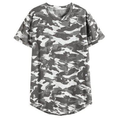 New Brand Men T-Shirt Casual Camouflage Slim Fit O-Neck Short Sleeve T-Shirt Men