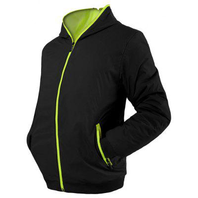 2019 Solid Color Wild Self-cultivation Youth Hooded Thin Jacket Sports Windbreaker Baseball Uniform