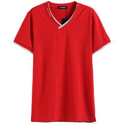 2019 summer new fashion casual trend Slim solid color round neck short-sleeved T-shirt male