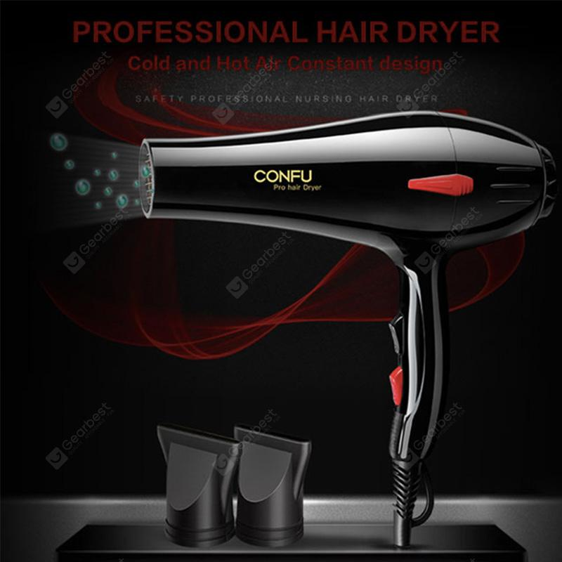 CONFU-8937 Professional Hair Dryer Hair Salon Level Wind Power Cold and Hot Air Constant design - CONFU 8937 Black China EU
