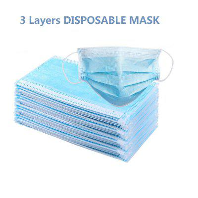 3-ply Non Woven Disposable Face Mask PM2.5 Anti Haze Dust Protective Mouth Masks Earloop Facial Mask