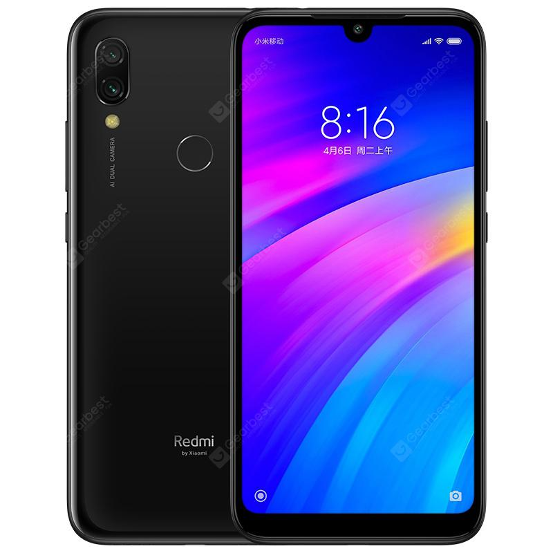 Xiaomi Redmi 7 4G Phablet Global Version 16GB ROM Qualcomm Snapdragon 632 Fingerprint Sensor - Black