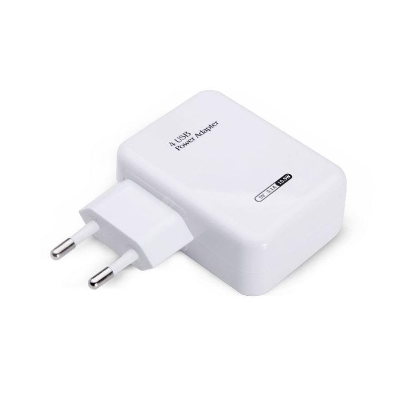 LEEHUR Travel Portable Smart 4 USB Charger Power Adapter for Mobile Phone Tablet