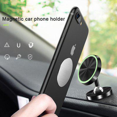 LEEHUR Luminous Magnetic Car Phone Holder Stand Bracket Support for Mobile Phone