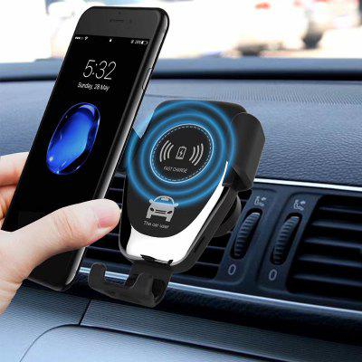 LEEHUR 10w 2 in 1 Car Wireless Phone Charger Fast Charging Gravity Holder Stand Bracket