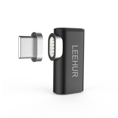 LEEHUR Mini Magnetic Type-C Elbow Power Adapter Converter for MacBook