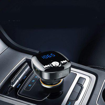 LEEHUR Dual USB Car Charger with MP3 FM Bluetooth for Mobile Phone