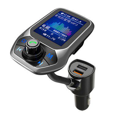 Universal Phone Car Charger Color Display 2.4A QC 3.0 Fast Charging for Mobile Phone