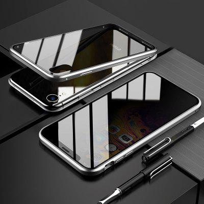 LEEHUR Privacy Anti-peeping Magnetic Case Tempered Glass Phone Case for IPhone XS MAX XR X 8 7 Plus