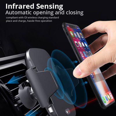 LEEHUR 10w Car Wireless Charger Automatic Infrared Sense for iPhone Xiaomi Wireless Car Charger