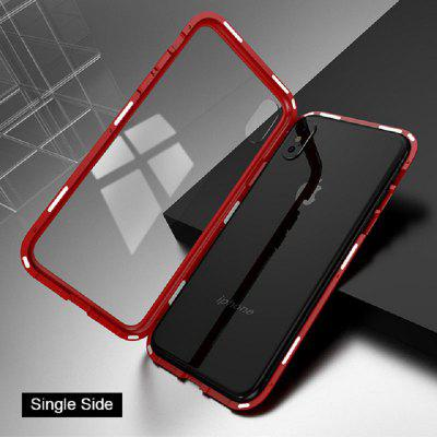 Single Side Tempered Glass Magnetic Case Cover Shell for IPhone XS MAX X 8 7 6 6s Plus Back Cover