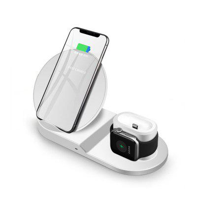 LEEHUR 10W Wireless Charger 3 In 1 QC 3.0 for Iphone Apple Watch IWatch Airpods Charger Station Dock