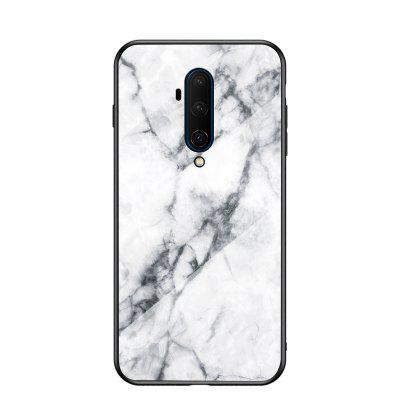 LEEHUR Marbled Glass Case Phone Case Back Cover for oneplus 7T Pro