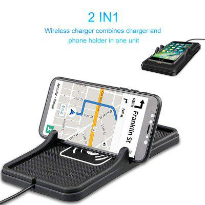 LEEHUR Qi Car Wireless Charger 10w Fast Charging Car Charger Non-slip Car Dashboard Phone Charger