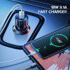 LEEHUR 18W USB Car Charger QC 3. 0 Fast Charger Dual Ports Phone Charger for Car Cigarette Lighter