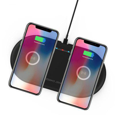 LEEHUR Qi Wireless Charger Dual 10W Fast Charger for Iphone Xiaonmi Samsuang Mobile Phone Charger