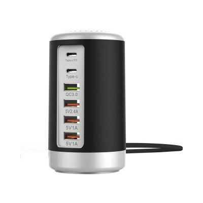 LEEHUR 65W Multi Port USB Charger Hub QC 3.0 Fast Charger Type C PD Phone Charger Dock Station